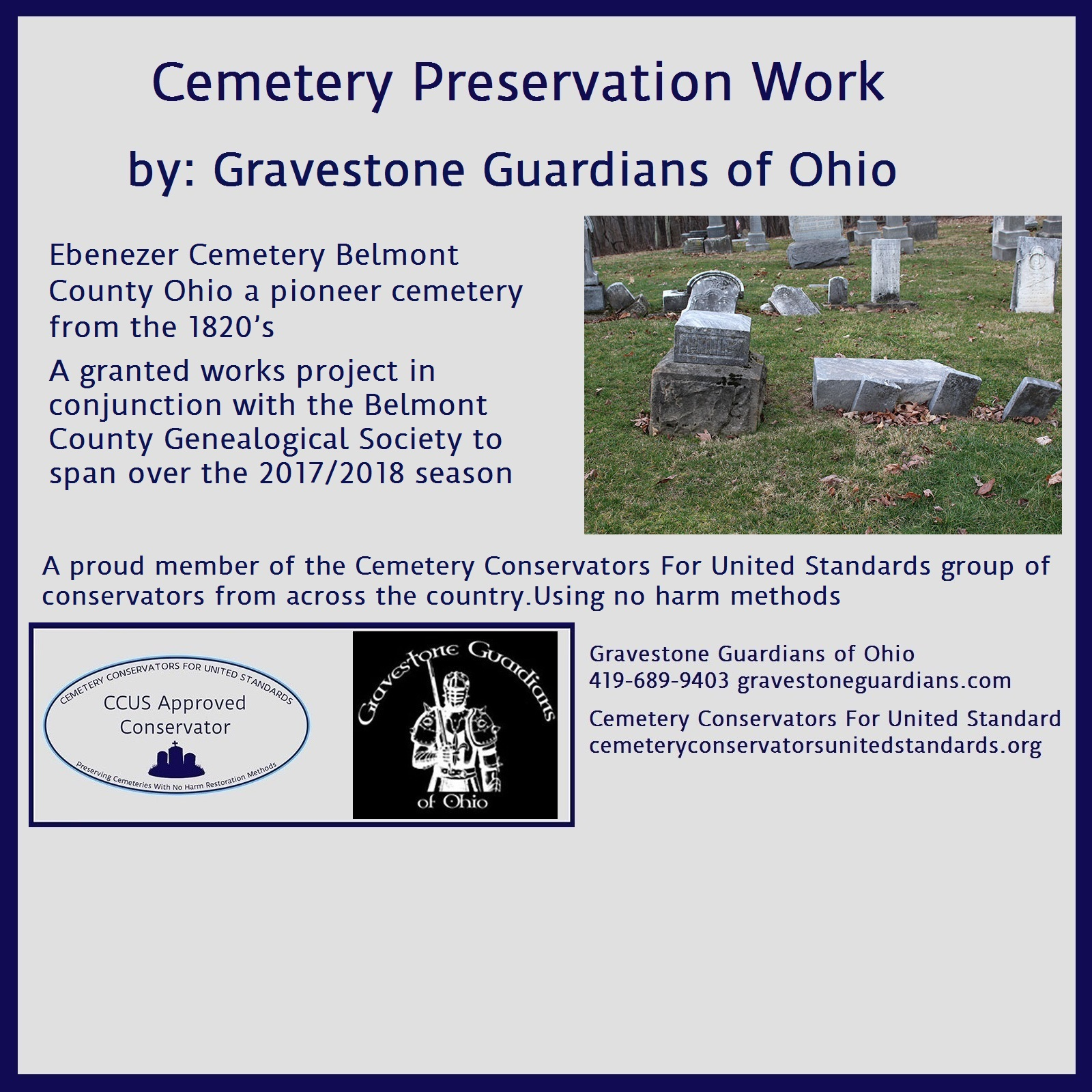 Cemetery Preservation Work Ohio 2017 – Cemetery ...